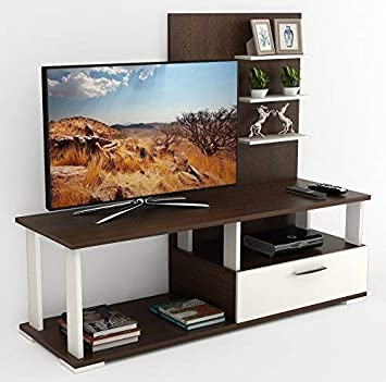 Bluewud Novah TV Entertainment Unit Stand (Standard, Wenge & White)