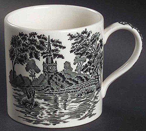 (Wedgwood Romantic England Queen's Ware Black Holy Trinity Church Coffee Mug)