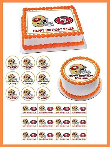 San Francisco 49ers - Edible Cupcake Toppers - 2