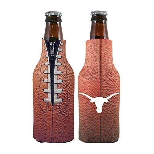 2014 Texas Longhorns Football - NCAA College 2014 Team Logo Football Look Bottle Coolie Holder Koozie Cooler 2-Pack (Texas Longhorns)