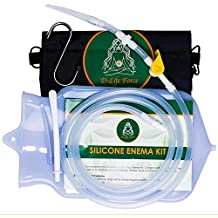 The Most Complete Enema Kit by D-LifeForce™, Includes - 2Qt Clear Silicone Enema Bag & 6ft Tube| For Water & Coffee Enemas, Colon cleanse, Douche For Woman & Man| FDA approved & Latex Free
