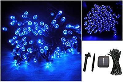 1Pc Excellent Popular 200x LED Solar Power Nightlight Romantic Tree Outdoor Lamp Yard Bright Colors Blue