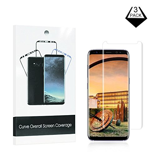 Screen Protector Film Case (Netgars xbb-398 Galaxy S8 Screen Protector [3-Pack],  [Case Friendly] HD Clear Anti-Scratch Easy to Install for Samsung S8 Screen Protective Film (Clear).)