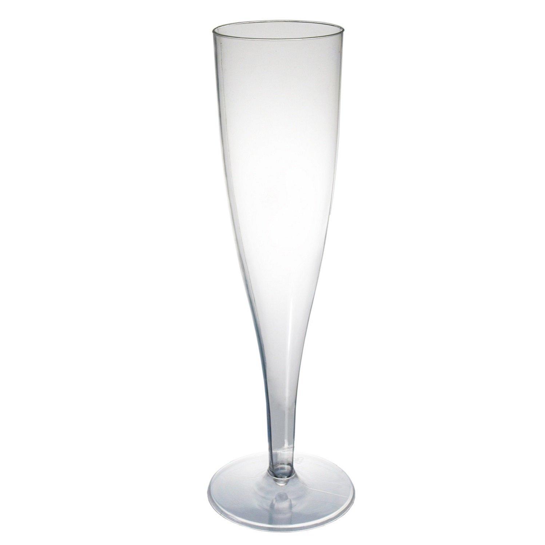 Plastic Champagne Flutes 5oz - 1pc. (120/pkg) Pkg/12
