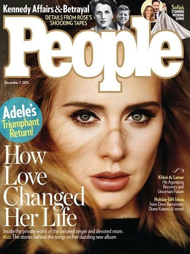December 7, 2015 People Magazine Adeles Triumphant Return ...