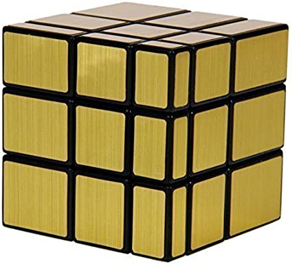 Prime Deals New Gold Mirror Speed Magic Cube Puzzles, ABS Ultra-Smooth Master Brain Teaser Toys