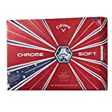 Callaway Golf Chrome Soft Truvis Golf Balls, (One Dozen), Stars and Stripes
