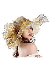 6e0ddcb5652 Women s Kentucky Race Hats with Mesh Ruffles Hat Large Hat Organza Women s  Visor