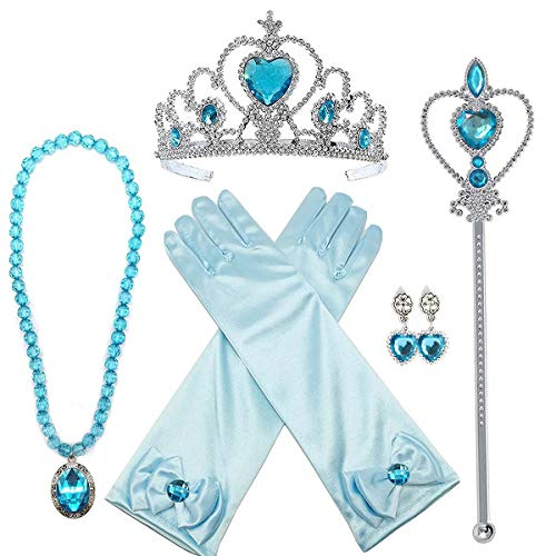 loel Princess Dress up Party Accessories - 3 Piece Gift Set: Tiara, Wand and Necklace -