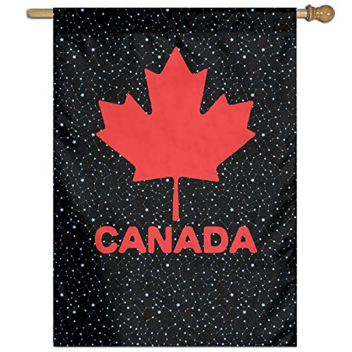 MKLNHBGFCH37 Canadian Flag Canada Maple Leaf Welcome Garden Flag Yard Flag Family Flag 27