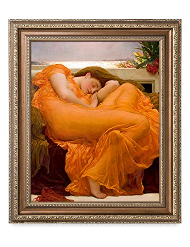 DecorArts - Flaming June, Frederic Leighton Classic Art. Giclee Prints& Framed Art for Wall Decor. Framed size: 22x26