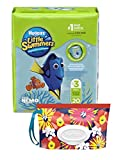 Huggies Little Swimmers Disposable Swim Diaper, Swimpants, Size 3 Small (16-26 lb.), 20 Ct., with Huggies Wipes Clutch 'N' Clean Bonus Pack (Packaging May Vary)