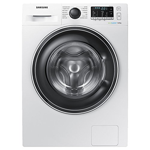 Samsung WW80J5555EW ECOBUBBLE 1400rpm Washing Machine 8kg Load SMART Class A+++