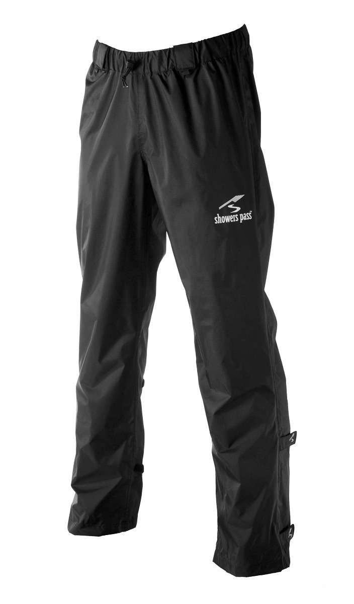 Showers Pass Men's Lightweight Waterproof Storm Rain Pants (Black - Small