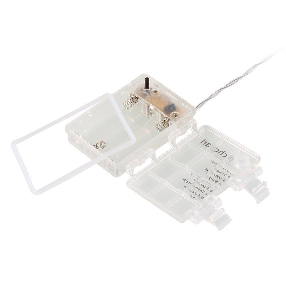 TokoDirect 33Ft 100er LED Draht Micro Lichterkette Batteriebetrieb ...