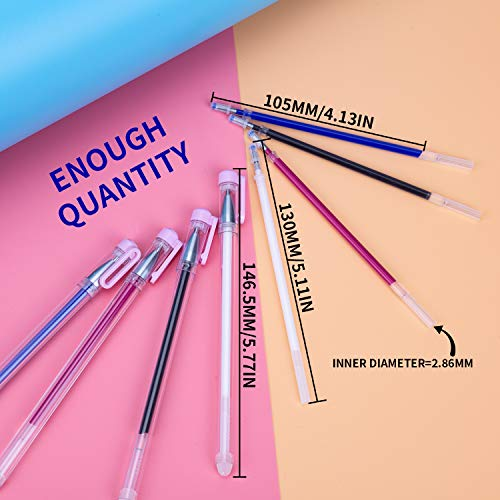 Qihaihp Heat Erasable Fabric Marking Pens with 16 Refills for Tailors Sewing White, Red, Blue, Black 4 Colors Heat Erasable Marking Pens for Various Colors of Fabrics and Quilting Dressmaking