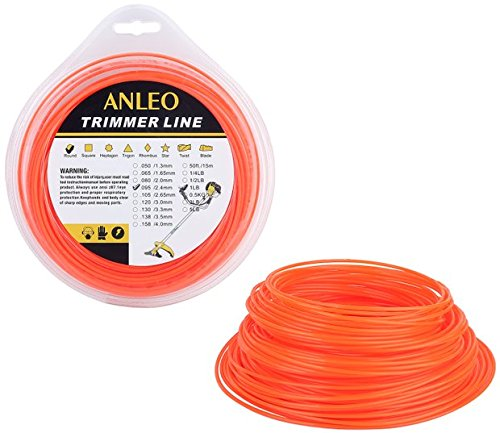 ANLEO 1PCS Professional Round .095-Inch Diameter 1-Pound Bulk String Trimmer Line (Orange)