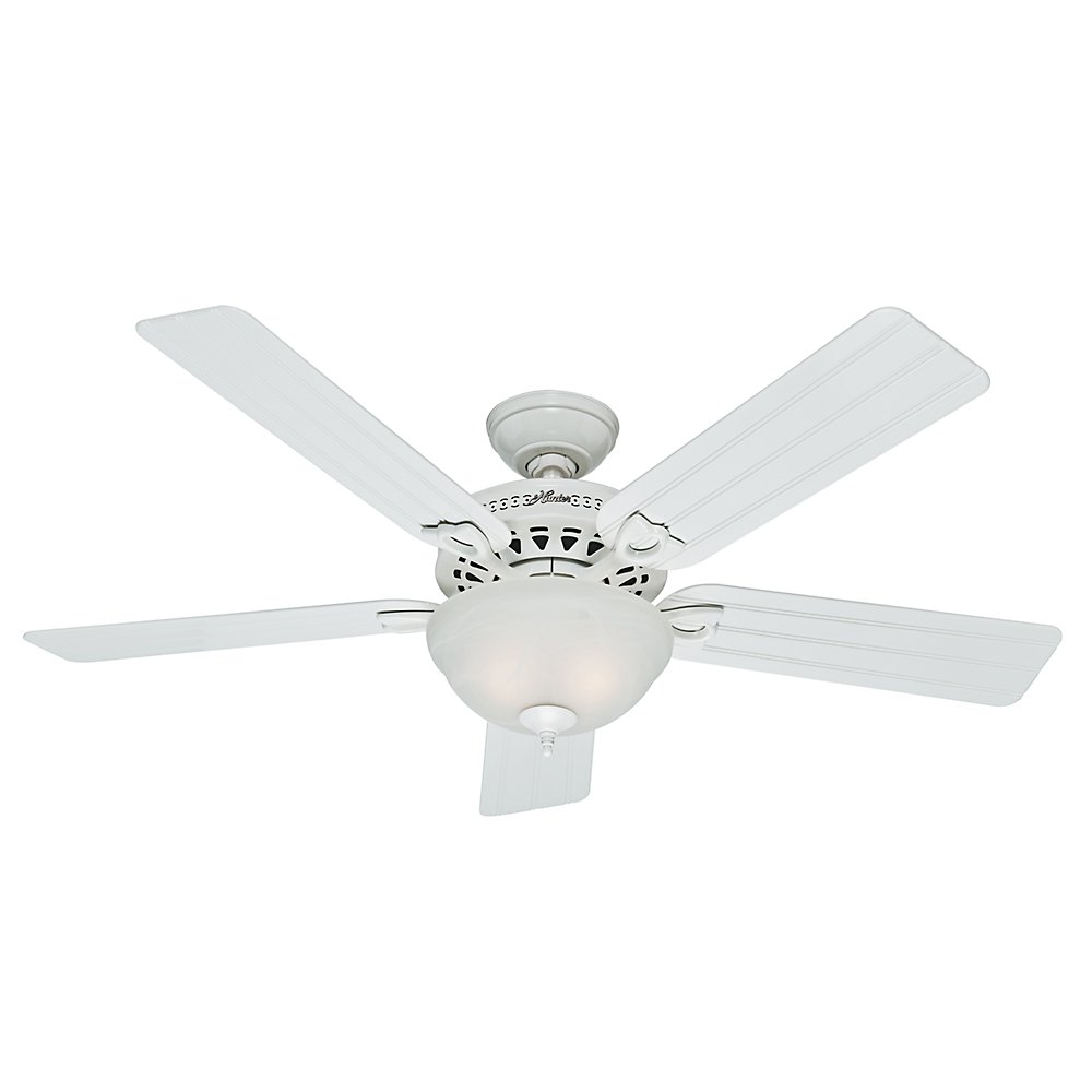 Hunter Fan Company Hunter 53122 Nautical 52 Ceiling Fan from Beachcomber collection in White finish, inches