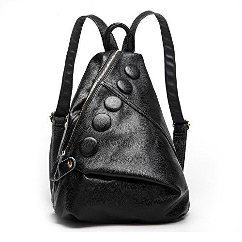 Moda Zaino Coreana Tracolla black Moda A Pelle XIAOLONGY Di Borsa In Pelle In Treasureblue qBtxp804