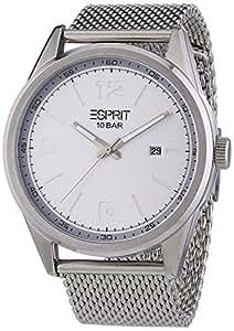 Esprit ES106341004 - Reloj analógico de cuarzo para hombre, correa de acero inoxidable color plateado