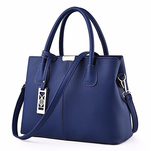 Nuevo g Bolso Mano Color Bolsa Con De Gqfgyyl Hombro Señora Azul Un z861x1