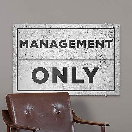 CGSignLab Management Only 8x3 5-Pack Modern Block Premium Brushed Aluminum Sign