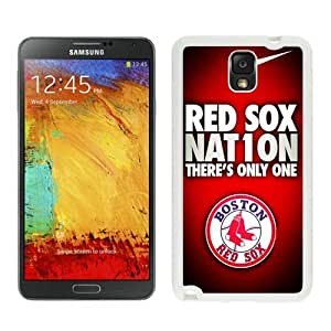 High Quality Samsung Galaxy Note 3 Case ,Cool And Fantastic Designed Case With Boston Red Sox White Samsung Galaxy Note 3 Cover
