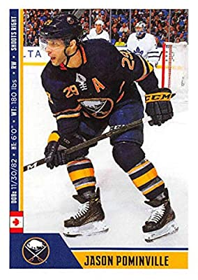 2018-19 Panini NHL Stickers Collection  39 Jason Pominville Buffalo Sabres  Official Hockey Sticker (smaller than a regular card) dbfa4429d