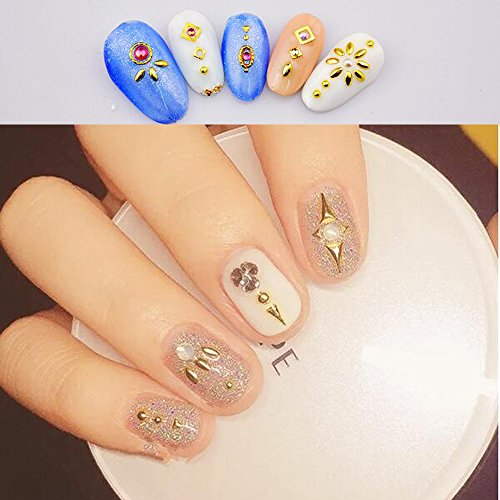 Nails Art Accessories Rose Gold Rivets Rhinestones For Nails Mixed Sizes 1000Pcs/Bag Sindy