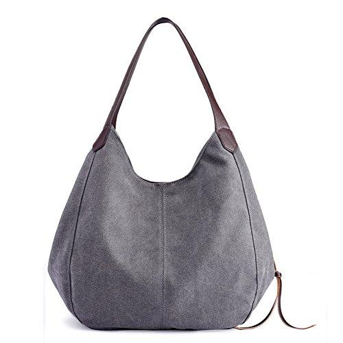 Purses Bags KARRESLY Beige Multi Tote Women's Ladies Girls Casual Bags pocket Shoulder Canvas Handbags for vIrRx6v