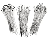 Cousin DIY Assorted Silver Metal 2in Head and Eye Pins - 135pc