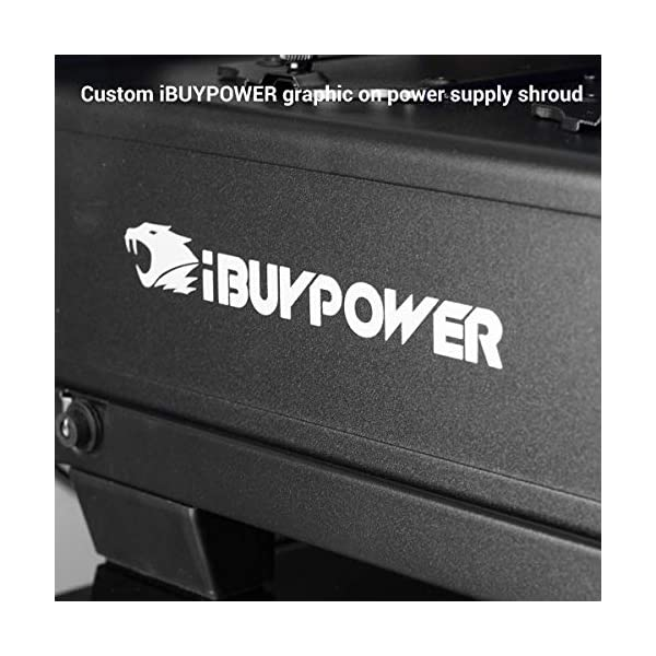 iBUYPOWER Elite Gaming PC Desktop Computer Slate2 084i (Intel i5-9400F 2.9GHz, NVIDIA GeForce GTX 1660 Ti 6GB, 480GB SSD, 8GB DDR4-2666 RAM, Wifi Included, RGB Lighting, Win 10 Home 64-bit) Black 7
