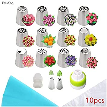 Icing Piping Russian Cake Decorating Pastry Tip 100/% Cotton Pastry Bag Nozzles