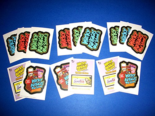 Wacky Packages Old School3 Complete Sets Sweetar Promo & Logo Cards-all 3 Backs