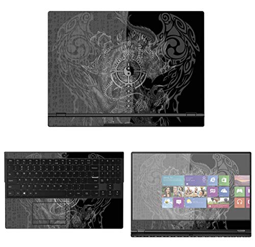 decalrus - Protective Decal Yin Yang Skin Sticker for Lenovo Legion Y530 (15.6