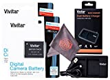 2 Pack Vivitar NB-11L / NB-11LH Vivitar Ultra High Capacity Rechargeable 1200 mAh Li-ion Batteries + Vivitar Dual Battery Charger + Microfiber Lens Cleaning