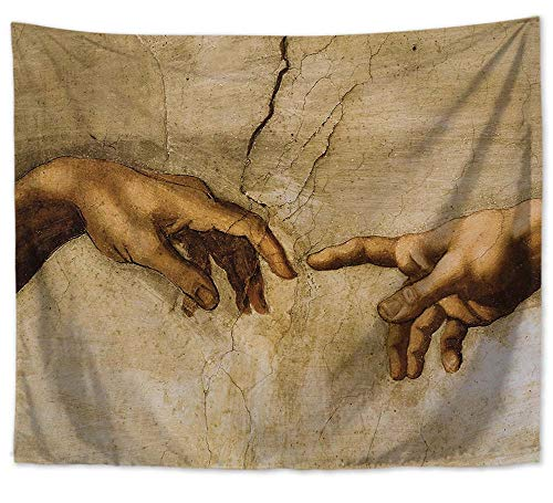 WholesaleSarong Creation of Adam Painting Italian Artist Michelangelo Wall Art Hanging Tapestry Beach Towel Wall Decor Home Interior Wall Decor