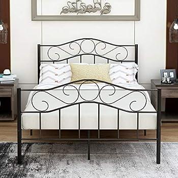 Amazon Com Victorian Vintage Style Platform Metal Bed