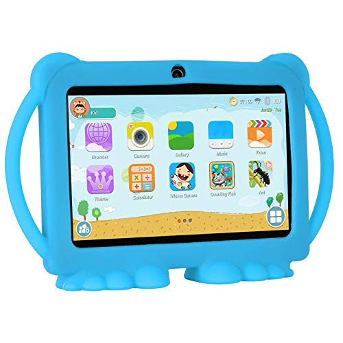 Xgody T702 7 Inch HD Tablet PC for Kids Quad Core Android 8.1 1GB RAM 16GB ROM Touch Screen with WiFi Pre-Loaded 3D Game Dual Camera Blue (Best Tablet Pc For Kids)