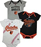 "Baltimore Orioles Baby / Infant ""Three Strikes"" 3 Piece Creeper Set"