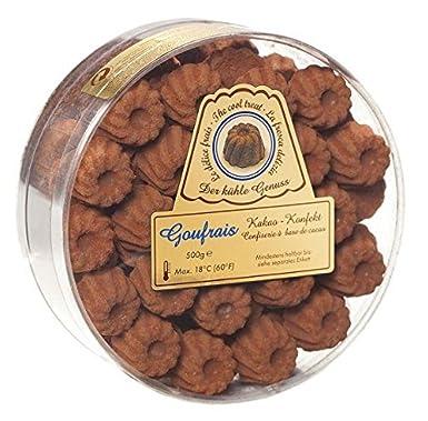 goufrais Chocolate Cacao konfekt Feinste molde para Bombones. Chocolate salvaje regalo Set. Cacao konfekt Box 500 g: Amazon.es: Alimentación y bebidas