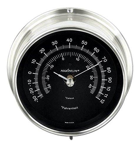 Mini-Max Thermometer in Nickel & Black
