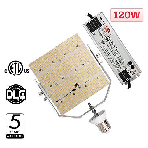 (120W LED Retrofit Kit for Parking Lot, 400Watt MH/HPS Replacement, Mogul E39 Base Stadium Street Pole Light, 5700K Cool White Shoebox Retrofit Sports Court Lighting)