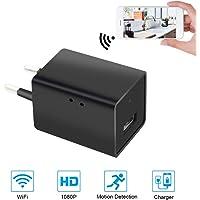 Mini Cámara Espía UYIKOO WiFi Cámara Oculta 1080P HD USB Cargador de Pared Cámara para la Seguridad del Hogar Cámara para Niñera con Detección de Movimiento Soporte Control de Aplicaciones