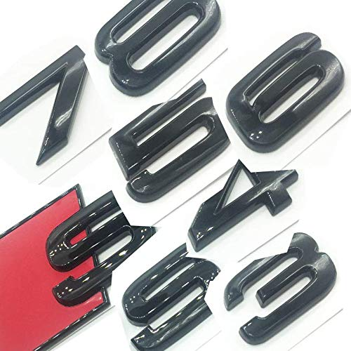 OEM ABS Nameplate compatible for Audi S 3 4 5 6 7 8 s3 S4 s5 s6 s7 s8 Gloss Black Emblem 3D Trunk Logo Badge Compact (S4)