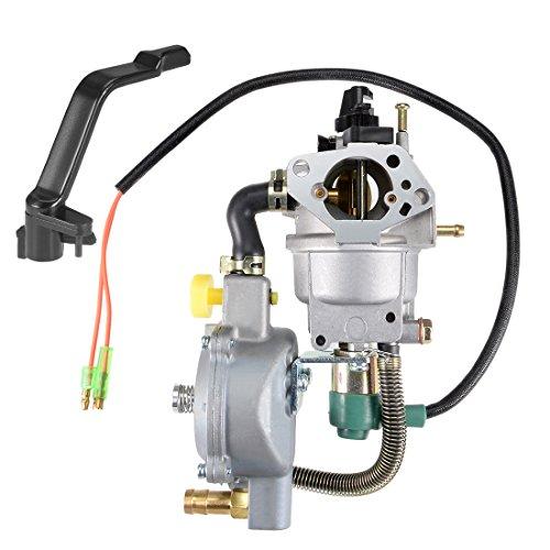 (uxcell New Dual Fuel Carburetor LPG NG Conversion Kit for Gasoline Generator 4.5-5.5KW GX390 188F w Manual Choke)