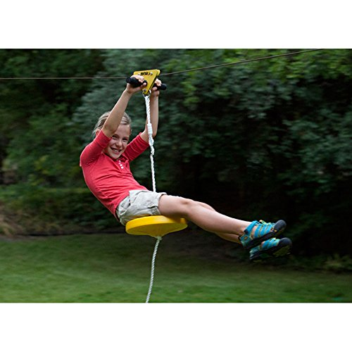 SLACKERS 40 ft. Zipline Falcon Series Kit with Seat