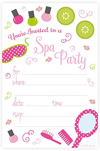 spa-birthday-party-invitations-fill-in-style-20-count-with-envelopes-by-mh-invites