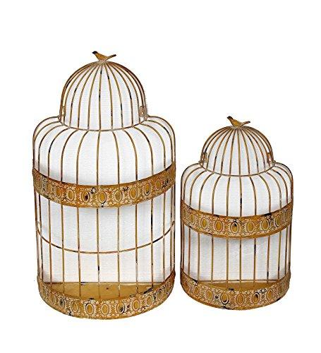 Privilege 18398 Wall Decor-Bird Cage Planter, 2-Piece