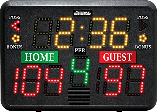 Sportable Scoreboards Multisport Indoor Tabletop Scoreboard (Game Clocks Scoreboards)